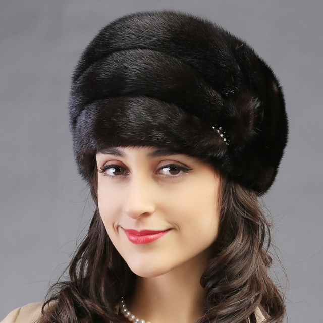 2015 autumn winter Super warm below zero show women real fur lovely Russian style cap lady luxur fur hat famous band new