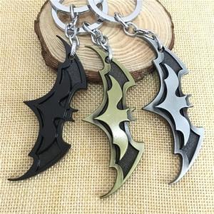 2020 New Fashion Avenger Union Batman keychains for Bag Key Holder Charm Hanging Pendant Car Key Ring Chain Women Men Jewelry