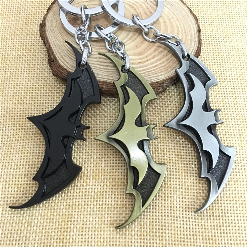 2018 New Fashion Avenger Union Batman keychains For Bag Key Holder Charm Hanging pendant Car Key Chains Key Ring Women & Men 15 colors pu leather braided woven rope double rings fit diy bag pendant key chains holder car keyrings men women keychains k224