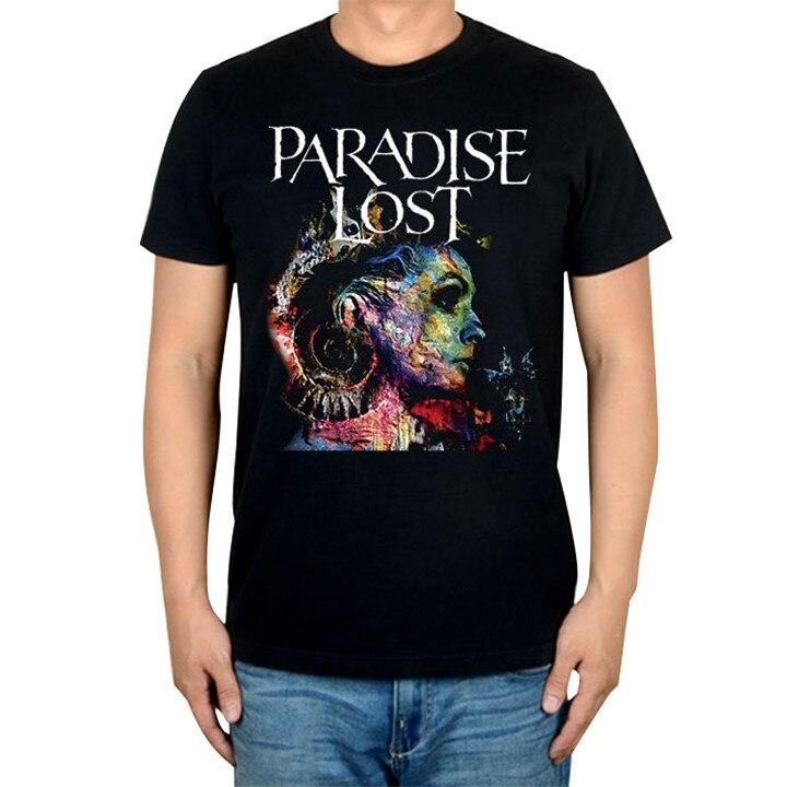 14 видов иллюстрации Райский Lost Rock брендовая футболка панк готический Металл черные рубашки уличная Harajuku искусство картины camiseta - Цвет: 1