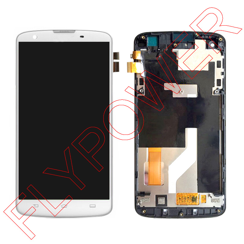 For Philips I908 LCD Screen Display With White Touch Screen Digitizer Glass + frame assembly by free shipping; 100% Warranty