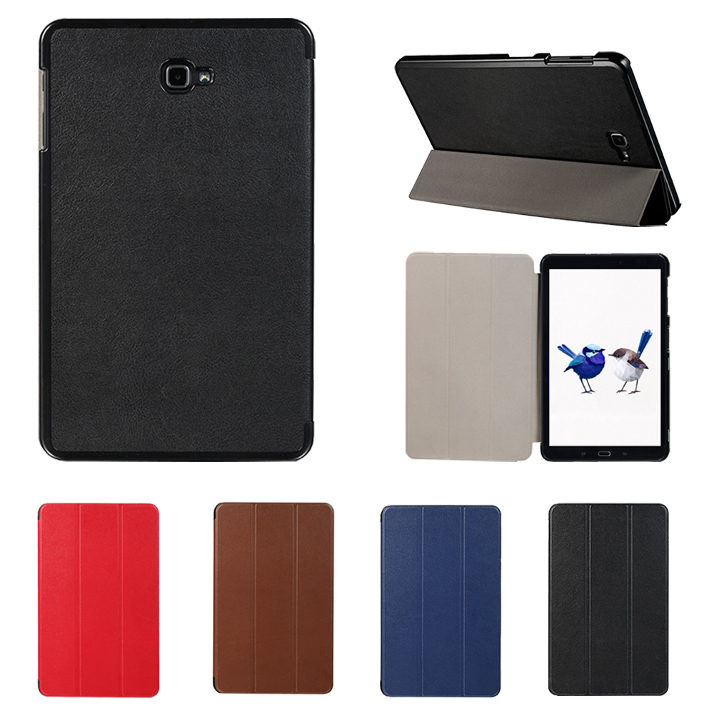 Besegad Mini Ultra Thin Foldable Cover Case Shell Stand for <font><b>Samsung</b></font> Galaxy Tab A T580 T585 <font><b>T</b></font> 580 <font><b>T</b></font> <font><b>585</b></font> Tablet Skin Holder image