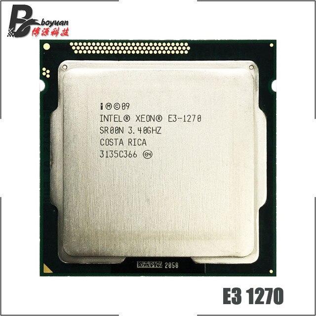 Intel Xeon E3 1270 E3 1270 3,4 GHz Quad Core CPU procesador 8M 80W LGA 1155