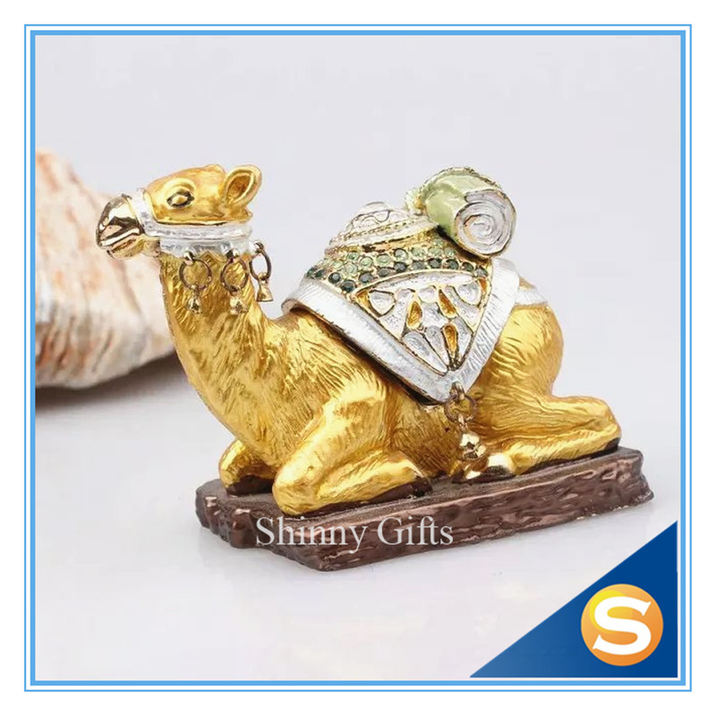 Camel Handcrafted Jeweled Pewter Trinket Box Camel Sitting Bejeweled Collectible Trinket Jewelry Box
