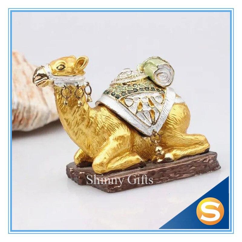 f6085a61f95a Camel artesanal Jeweled Peltre baratija camello sentado Bejeweled  coleccionables trinket joyero
