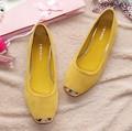 New Arrival Dropshipping HOT Sales  Design Sweet Lady Fashion Flat Shoes Elegant Women Flats Plus Size 4 Colors V049-2
