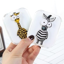 Contact Lens Case Cartoon Animal with Mirror Eye Care Kit Co