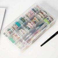 Фотоальбом DIY Дневник Декор простой прозрачный мини бумажный стикер 15 Сетка Скрапбукинг ручка периферийный ящик для хранения