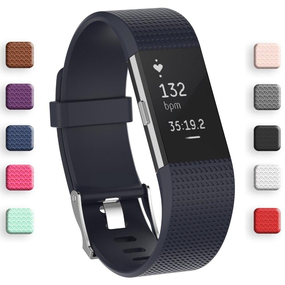 FleißIg Beste Silikonband Für Fitbit Charge2 Band Fitness Smart Armband Uhren Ersatz Sport Strap Bands Für Fitbit Ladung 2 Tragbare Geräte
