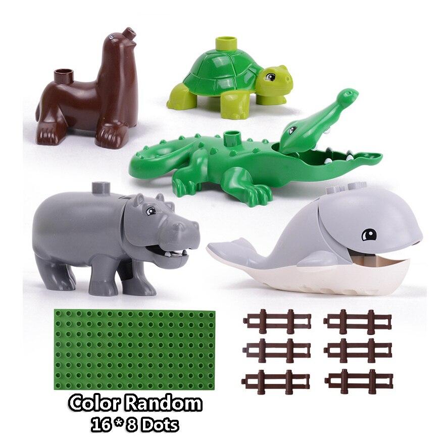 13-109pcs Large particles City Transport Team Car Model Series Building Block Bricks Compatible Duploe Toys for children Kids GIft (22)