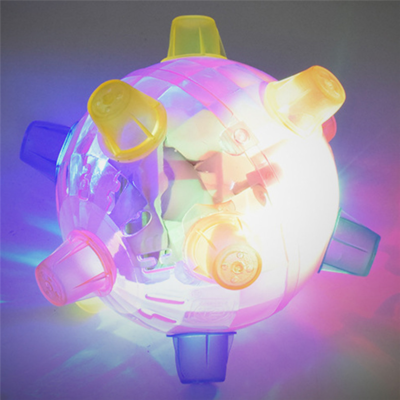 2018 High Quality Flashing Light Up Spikey Ball Kid TPR Flashing High Bouncing Balls Suits For Babies Great Funny Ball Drop Ship