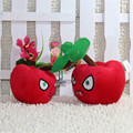 Hot sales 14cm Plants vs zombies plush toy Doll Stuffed Animals Baby Toy for Children Gifts ( Cherry Bomb)