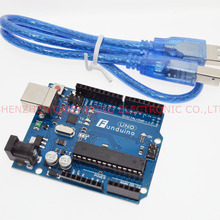 UNO R3 для arduino MEGA328P ATMEGA16U2 10 Набор = 10 шт плата+ 10 шт usb кабель