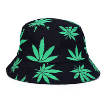 Weed Patterned Bucket Hat