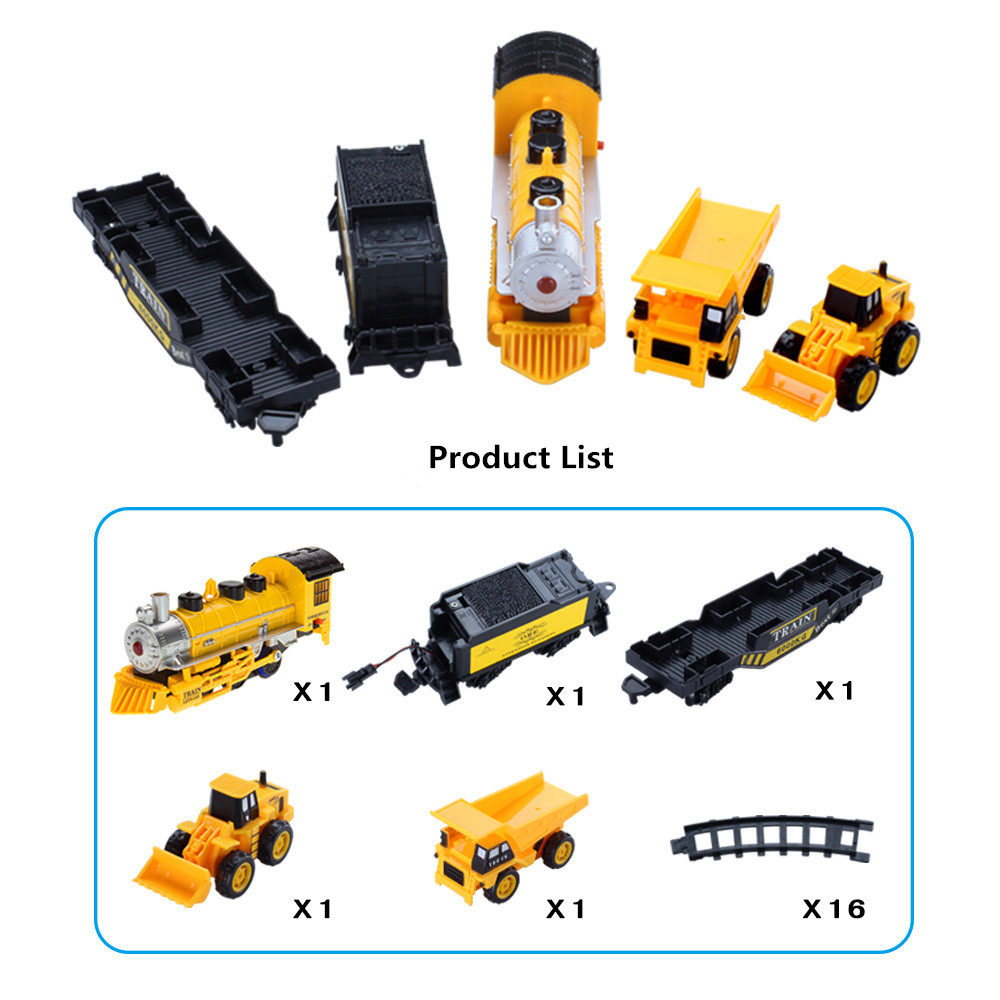 2017 Hot Sale Train Track Rail Car Engineering Electric Bicycle Model Railroad Electronic Circuit Lists