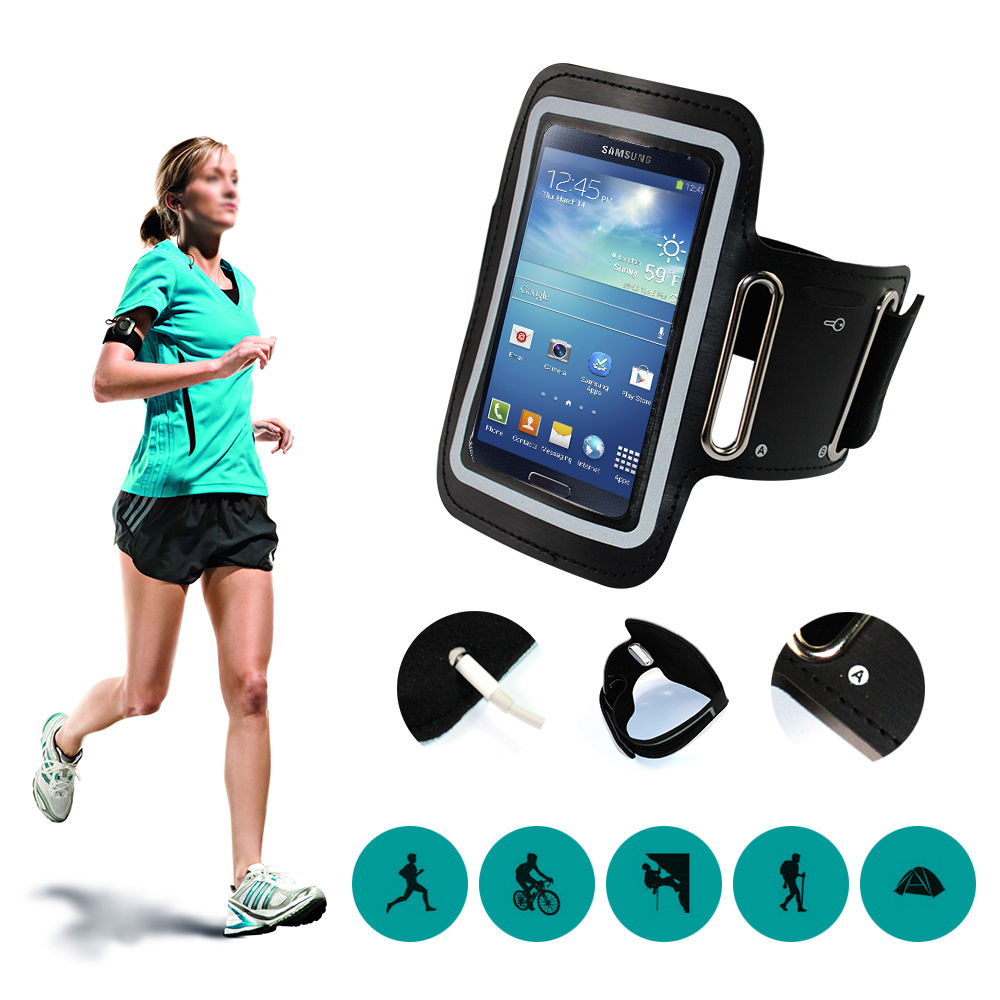 Hotr Running Sport Wristband Armband Arm Band For Iphone 6 6s Plus 5s 7 6s For Xiaomi Mi 5 4 Redmi Note 3 Phone Cases Bags Pouch Armbands