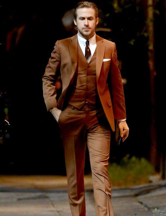 2017 latest coat pant designs brown men suit slim fit skinny 3 piece tuxedo custom groom blazer. Black Bedroom Furniture Sets. Home Design Ideas