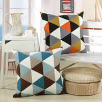 2016 Scandinavian Style Decorative Pillow Cover 18 X18 Soft Geometric Cushion Covers For Puff Sofa Beds