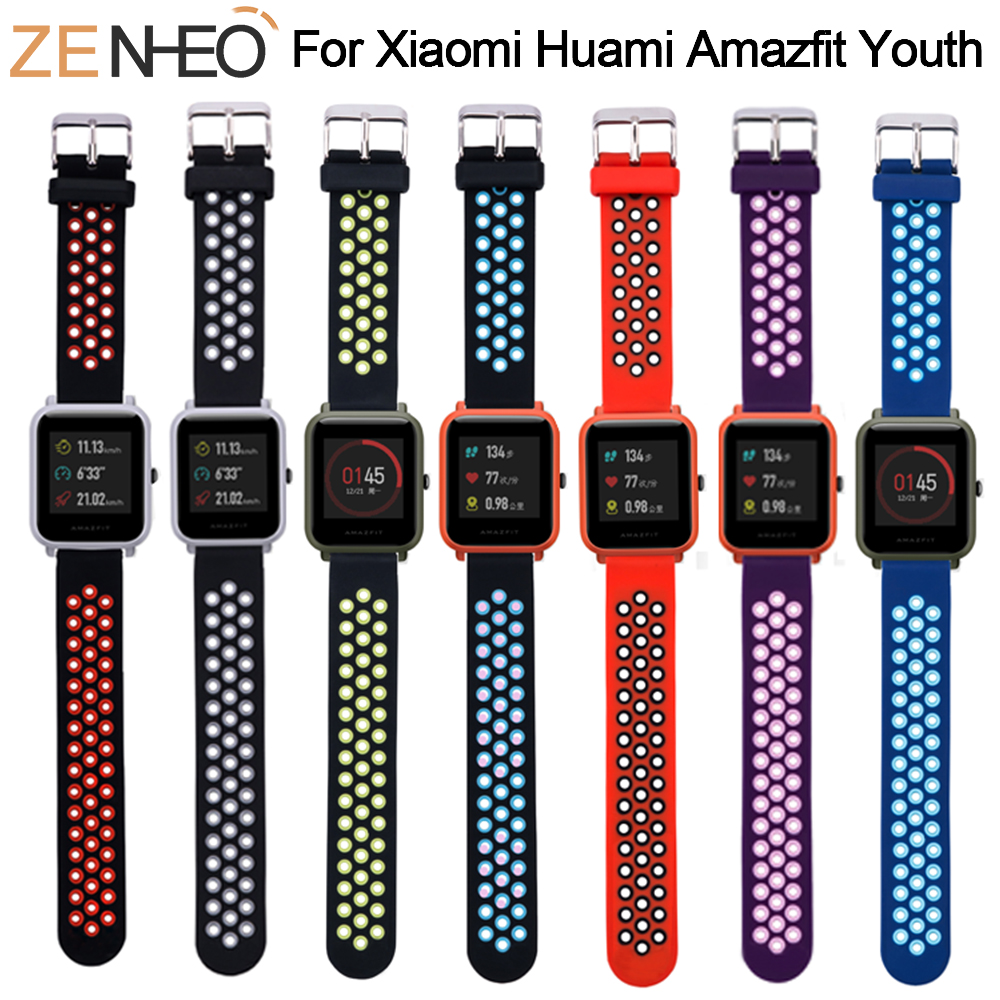 Sport Silicone For Amazfit Bip Strap Watchband For Xiaomi Huami Amazfit Band Bracelet For Huami Amazfit Bip Bit Wrist Strap 20mm