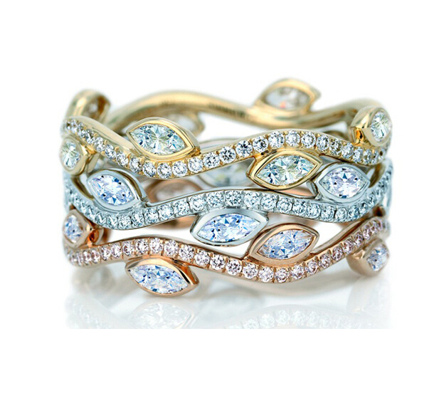Two Tone Stackable Rings