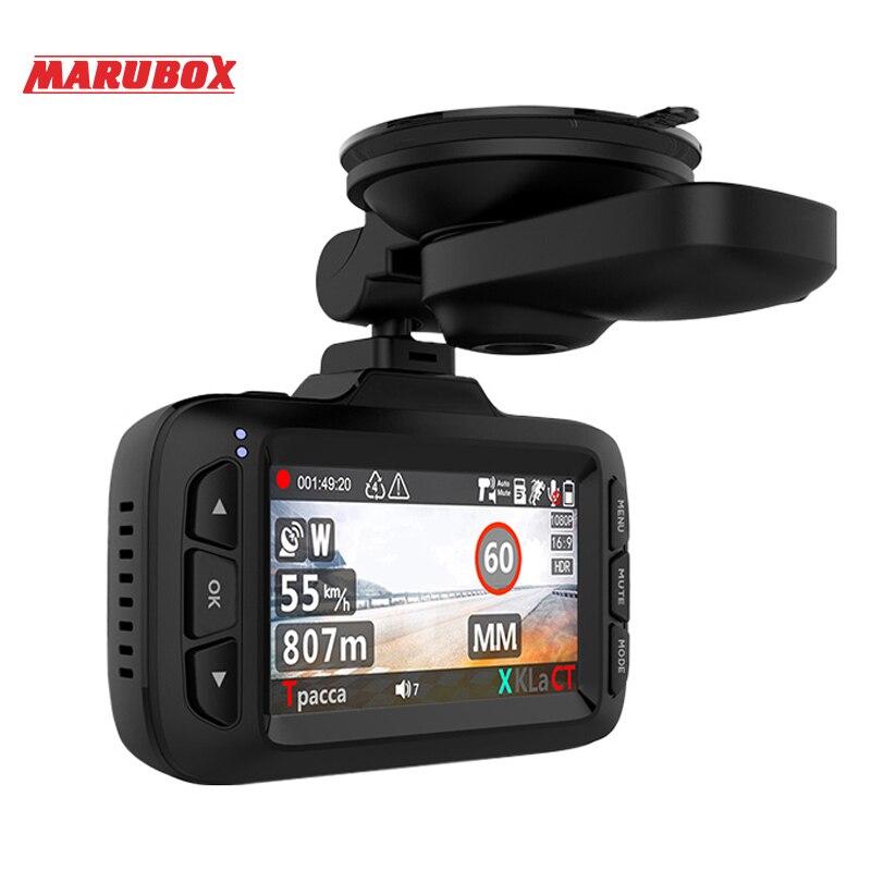 ZENISS OnSale Marubox Voiture Caméra DVR Détecteur de Radar GPS logger 3in1 HD1296P 170 Degrés De Voiture Enregistreur Vidéo pour La Russie M650R