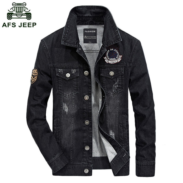 5449e6a82e5 Free Shipping 2018 Hot Sale AFS Jeep Spring Denim Jacket Male Tide Men  Casual Jacket Plus Size S-4XL h128