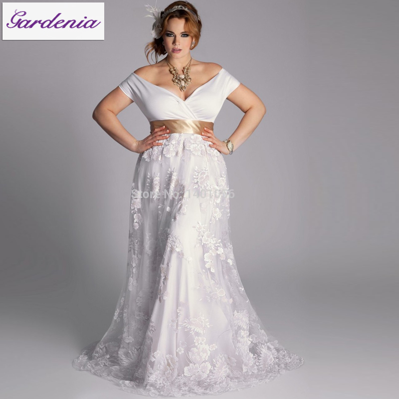 Robe De Mariage 2015 Wedding Dresses for Big Ladies Off Shoulder ...