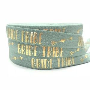 """Image 4 - Cinta elástica de 5/8 """"FOE para el pelo, 13 colores a elegir, 50y, para boda, accesorio de corbata"""