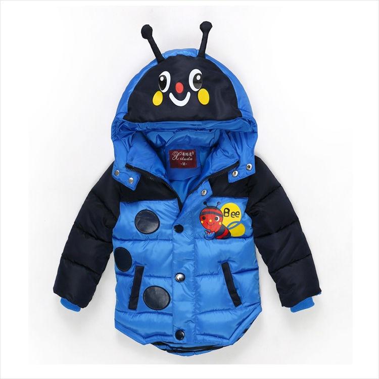 2016 yeni karikatür arı oğlanın patlama yastıklı ceket sıcak - Çocuk Giyim