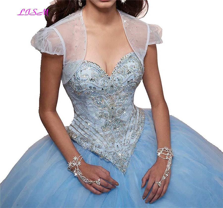 Vintage Lace Appliques Sweet 15 Ball Gown Tulle Quinceanera Dress Sweetheart Tulle Long Prom Dresses with Jacket vestido 15 anos