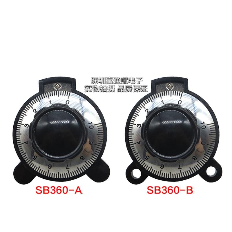 Matching Button Linear Digital Knob SB360 Potentiometer Knob Potentiometer Hole Diameter 6MM