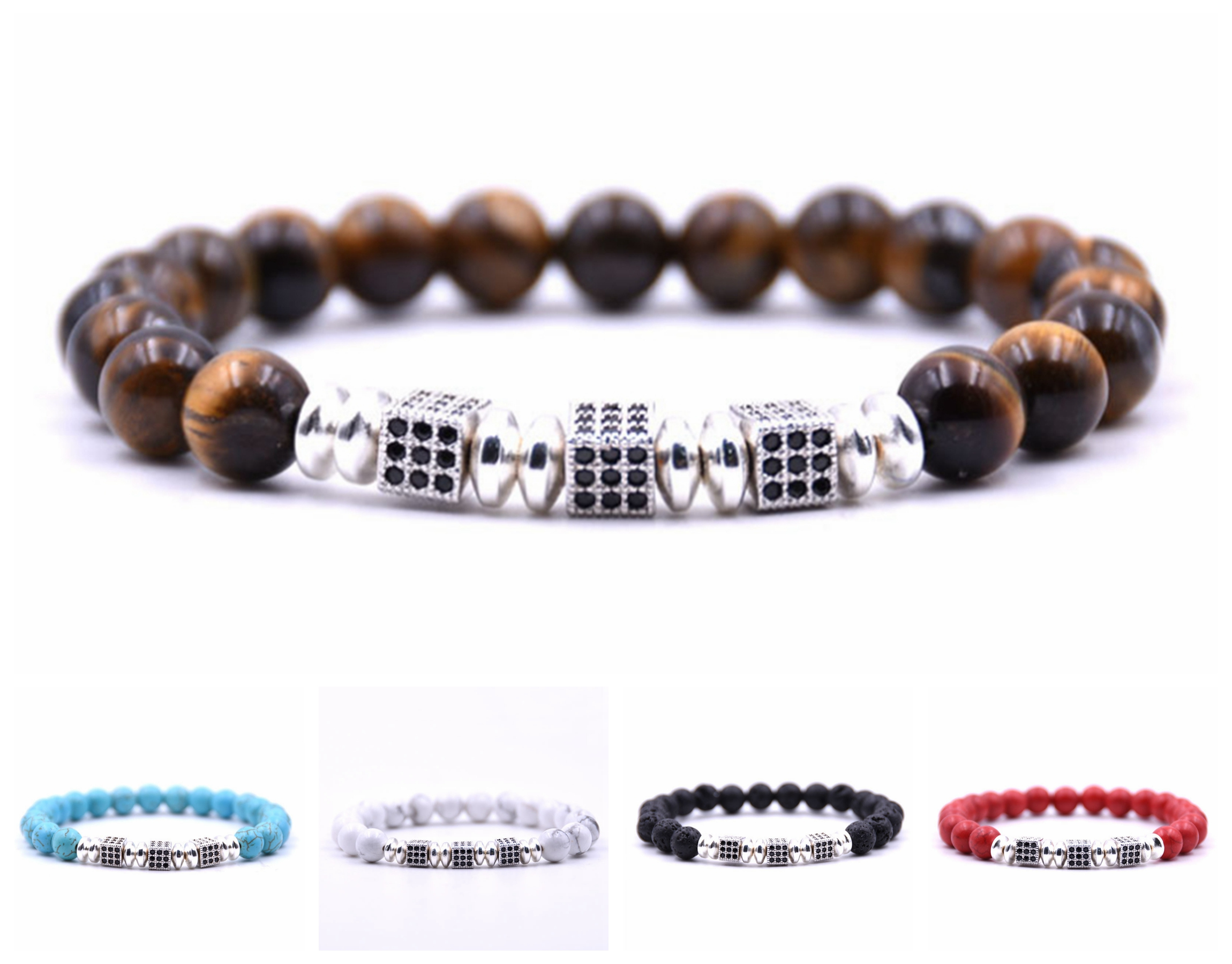 8mm Natural Healing Stone Bracelets