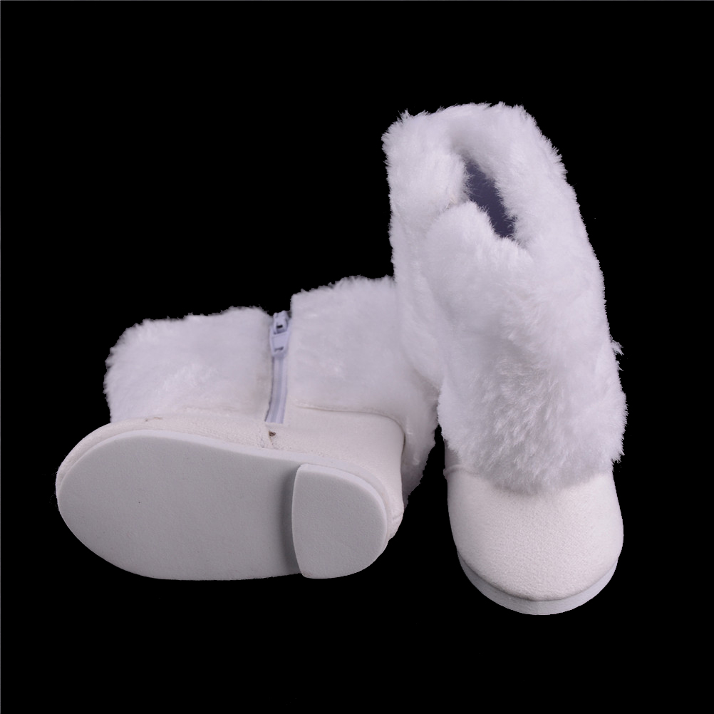18 Inch 45CM For American Girls Dolls Fur Snow Boots shoes for Alexander doll accessory baby doll girl gift [mmmaww] christmas costume clothes for 18 45cm american girl doll santa sets with hat for alexander doll baby girl gift toy