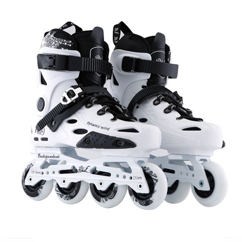 Advanced Inline Skates Shoes For FSK Slalom Slide Skating Plane 243mm 231mm Frame 80mm 76mm 72mm 85A PU Skating Wheel Roller RB
