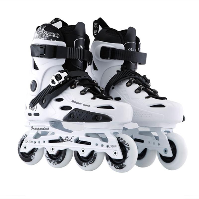 Advanced Inline Skates Shoes for FSK Slalom Slide Skating Plane 243mm 231mm Frame 80mm 76mm 72mm 85A PU Skating Wheel Roller RB slide design inline slalom skates for sliding fsk black white golden europe 35 to 44 85a pu skating wheel alloy cnc for seba hv