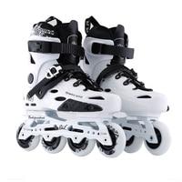 Advanced Inline Skates Shoes for FSK Slalom Slide Skating Plane 243mm 231mm Frame 80mm 76mm 72mm 85A PU Skating Wheel Roller RB