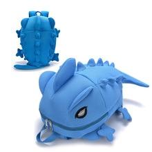 Cute 3D Solid Chameleon Backpack for Girls Vivid Backstab Monster Shaped School Bag Shark Satchel Bags Bolsa Mochila Feminino