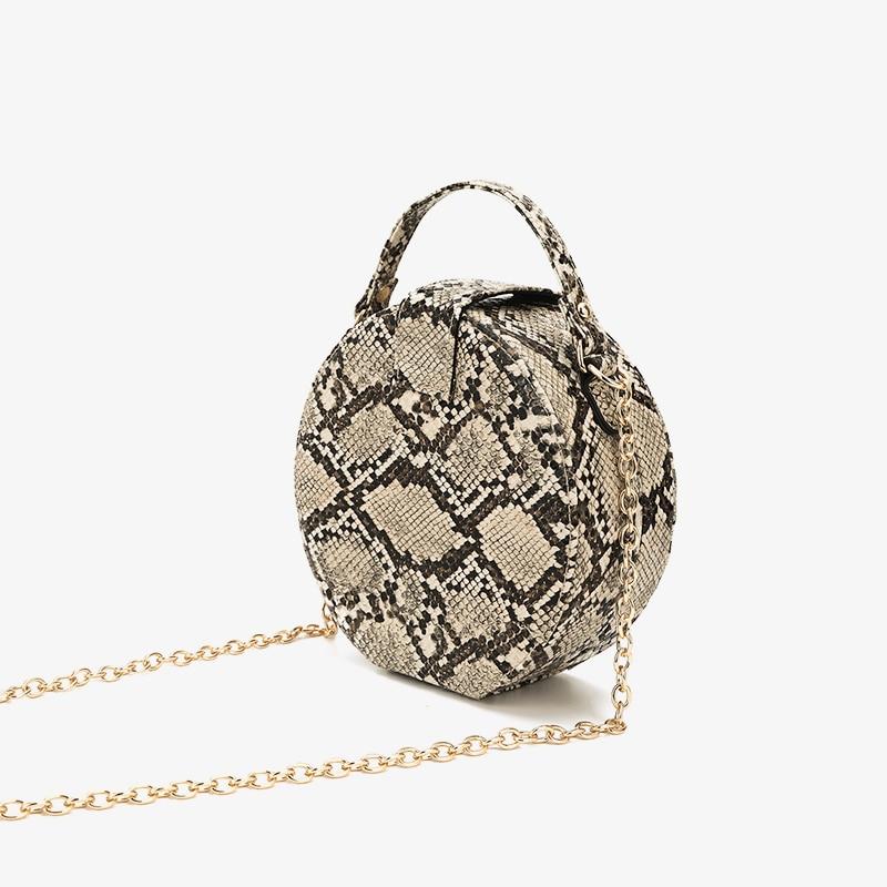 5b6eff329f Las mujeres bolsos Retro cadena serpentina bolso impreso pequeña de la PU  de cuero de serpiente de hombro, Crossbody bolsas mujer mensajero bolsa 431