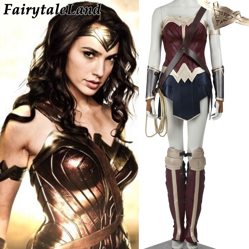 2017 Diana Prince Wonder woman cosplay costume adulte Batman v Superman L'aube de Justice cosplay costume wonder woman costume personnalisé