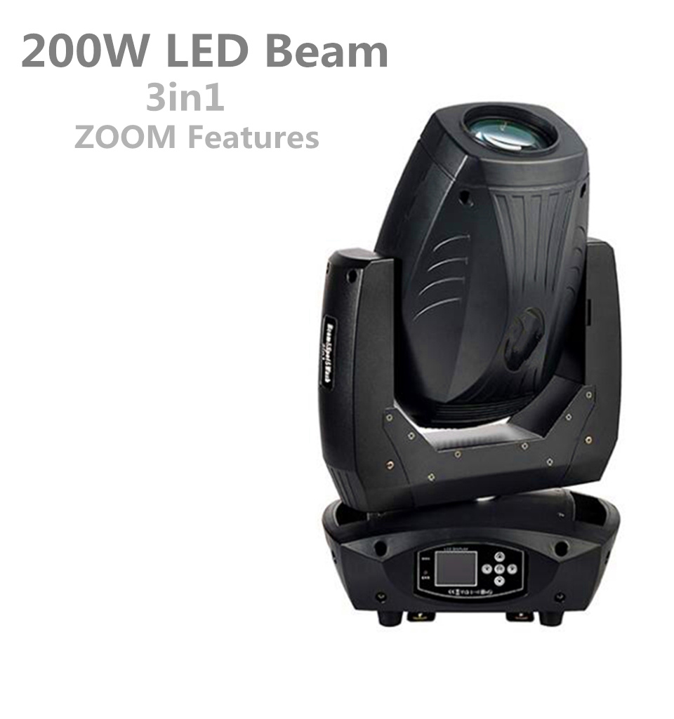200W LED Beam Spot Wash 3in1 Moving Head Light Plus ZOOM Features Display t Professional DJ/Bar /Party/Show/Stage Light 200W LED Beam Spot Wash 3in1 Moving Head Light Plus ZOOM Features Display t Professional DJ/Bar /Party/Show/Stage Light