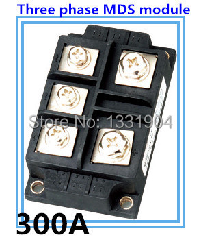 300A three phase Bridge Rectifier Module MDS 300 welding type used for input rectifying power supply and so on factory direct brand new mds200a1600v mds200 16 three phase bridge rectifier modules