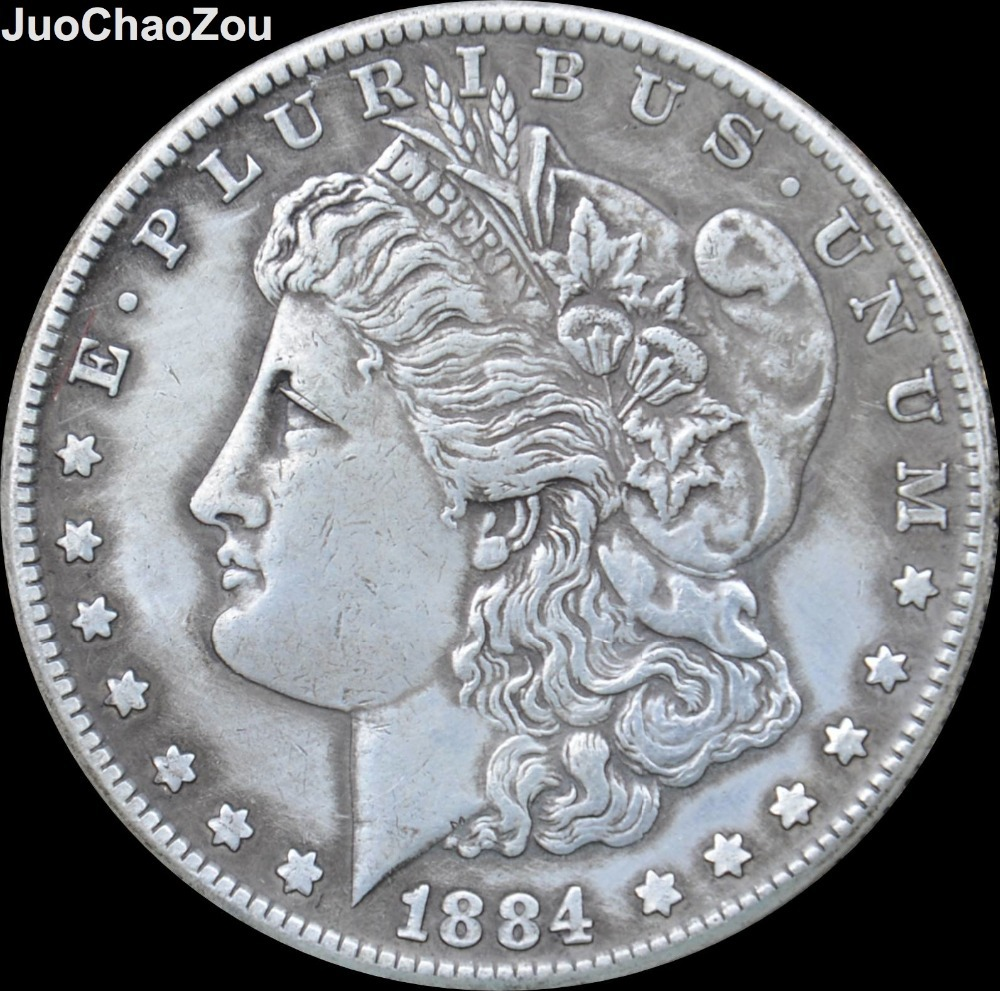 United States Coin 1884 O Silver Plated Morgan One Dollar Replica Coins Can Choose Any Year