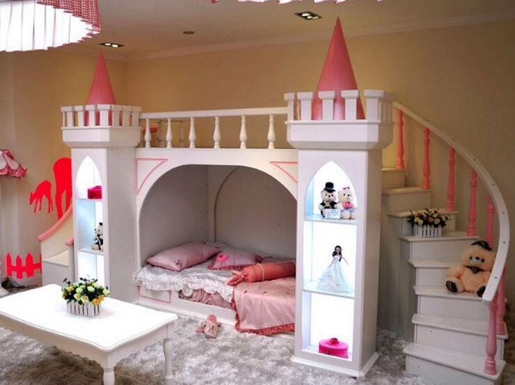Muebles De Madera Para Quarto Meja Mewah Tempat Tidur Bayi Literas - Mebel - Foto 3