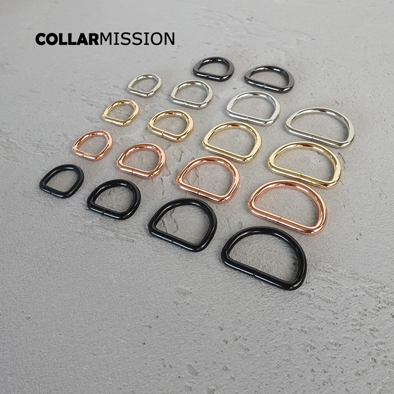 Nickel plated D-Rings 25mm webbing strapping bags garment 30mm accessory retailing <font><b>15mm</b></font> non welded metal flat Dee ring 20mm image