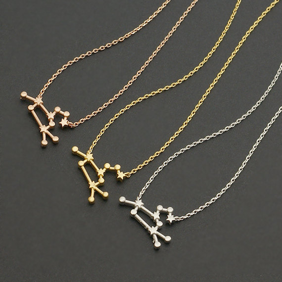 zodiac products or disk gold collections dainty necklaces constellation filled rose necklace silver zodiak
