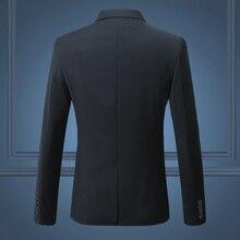 Black Classy Men's Blazer Jacket One Button Slim Wedding Suit Men Solid M-3XL Mens Casual Blazers White Customizable Big Size