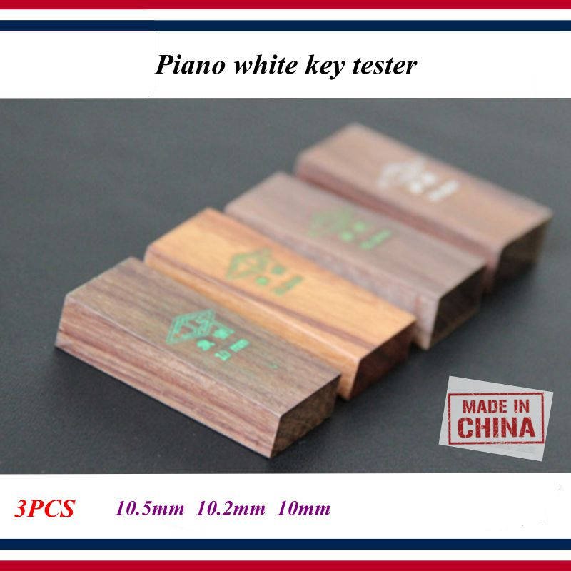 Piano Tuning Tools Accessories Piano White Key Leveling Gage Wooden A Set Of 3 For Measuring The Depth Of Piano White Keys Piano