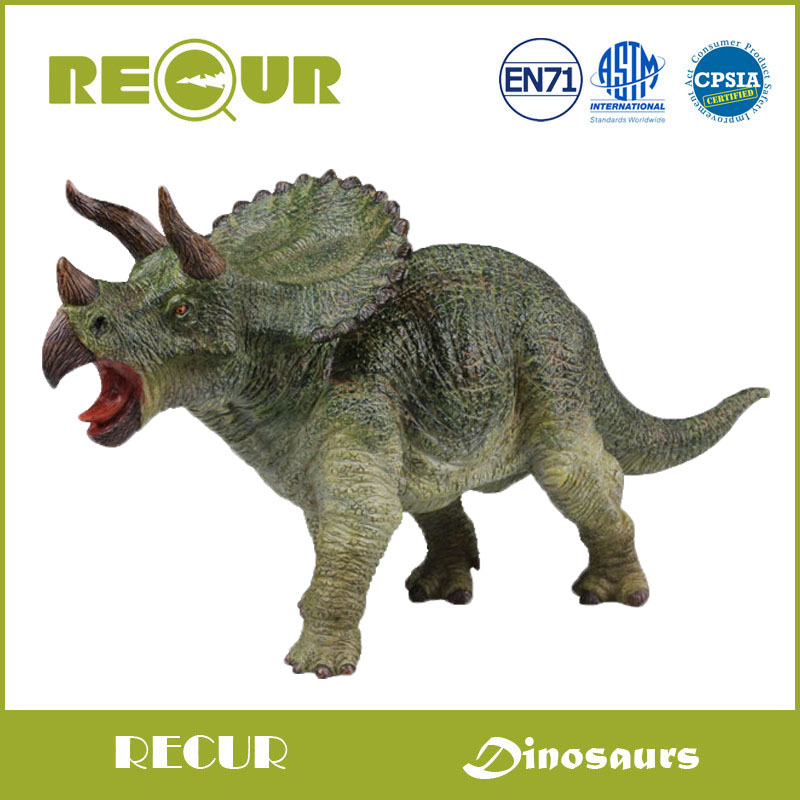 Recur Jurassic Dinosaur figure Triceratops model Hand Painted Soft PVC Collection Animal Model Action & Toys Figures For Kids patrulla canina with shield brinquedos 6pcs set 6cm patrulha canina patrol puppy dog pvc action figures juguetes kids hot toys