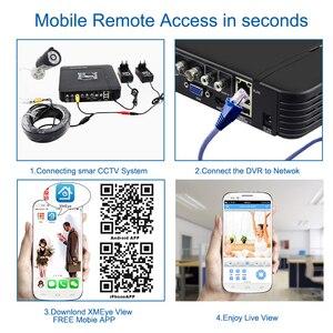 Image 5 - Smar 720P 1080P kamera AHD zestaw 8 sztuk na zewnątrz System kamer CCTV kamera bezpieczeństwa na podczerwień System monitoringu wizyjnego 8CH DVR zestawy
