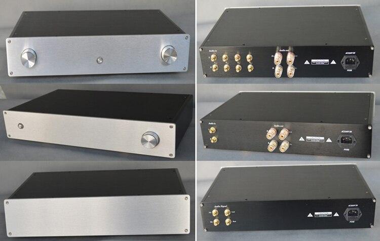 X4308A all aluminum amplifier chassis/Tube amp amplifier/Merger /Pre-amplifier/AMP Enclosure/case/DIY box (430*80*260mm) full aluminum amplifier chassis pre amplifier rear amp chassis balanced chassis amp case enclosure box diy 430 80 320mm